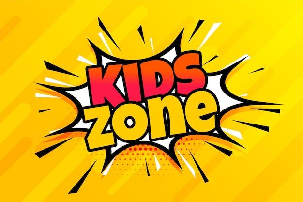 Fondo de dibujos animados de zona de niños de estilo cómico