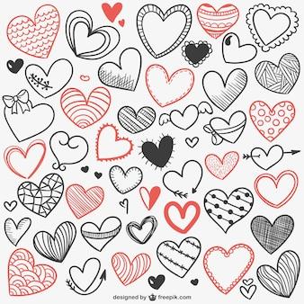 Fondo de dibujos de corazones