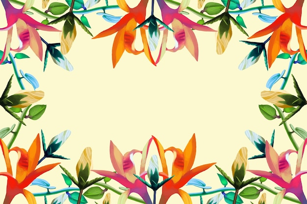 Fondo de diferentes flores realistas