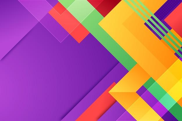 Fondo con diferentes formas de colores