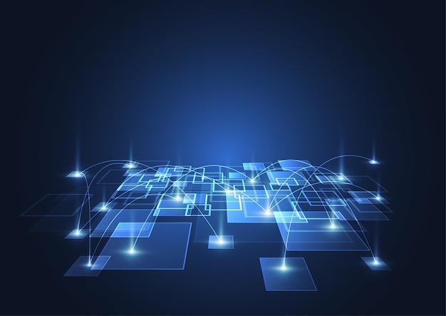 Fondo digital abstracto de big data con tecnología