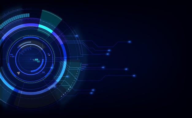 Fondo digital abstracto de innovación tecnológica de alta tecnología
