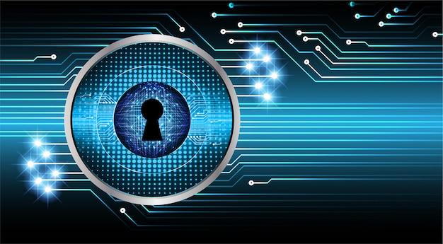 Fondo digital de candado cerrado, seguridad cibernética