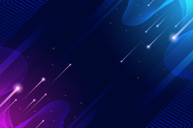 Fondo digital de luz de velocidad y focos