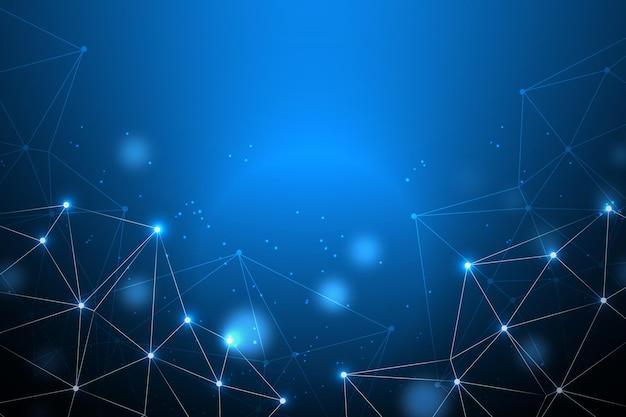 Fondo digital de puntos y líneas de conexión