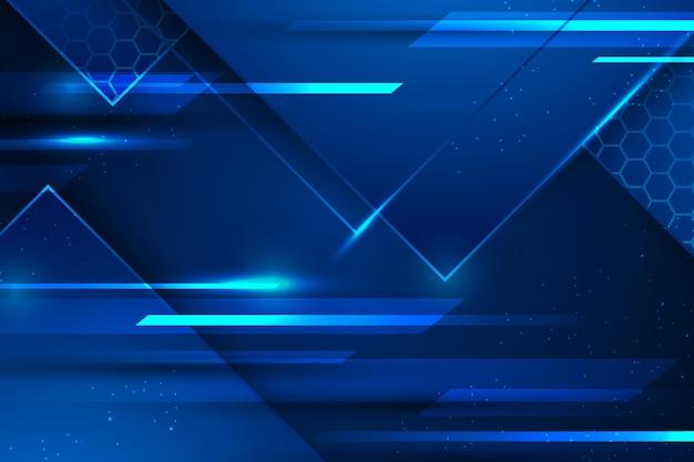 Fondo digital de velocidad de luz azul
