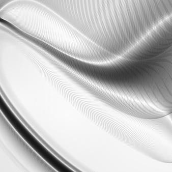 Fondo dinámico abstracto, ilustración ondulada futurista