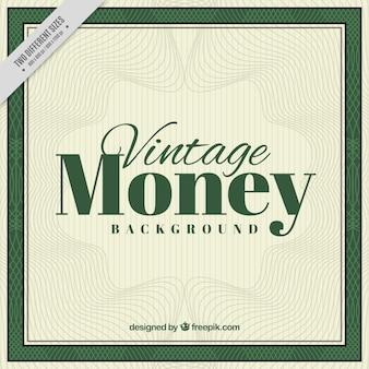 Fondo de dinero vintage con líneas onduladas