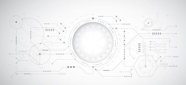 Fondo de diseño abstracto 3d con punto y línea de tecnología
