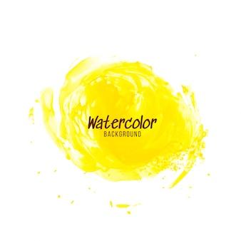 Fondo de diseño abstracto acuarela amarilla