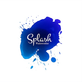 Fondo de diseño abstracto azul acuarela splash