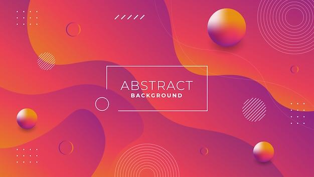 Fondo con diseño abstracto estilo memphis en color morado