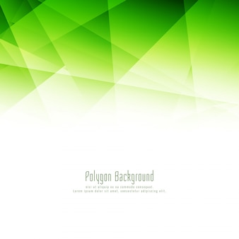 Fondo de diseño abstracto moderno polígono verde