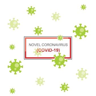 Fondo de diseño abstracto nuevo coronavirus covid19