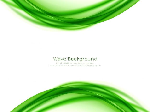 Fondo de diseño abstracto onda verde