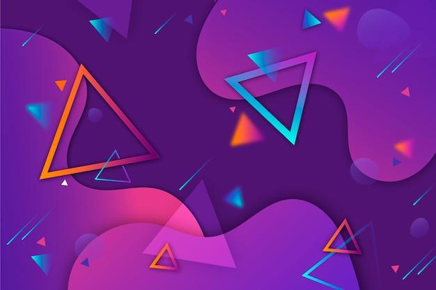 Fondo de diseño abstracto con triángulos