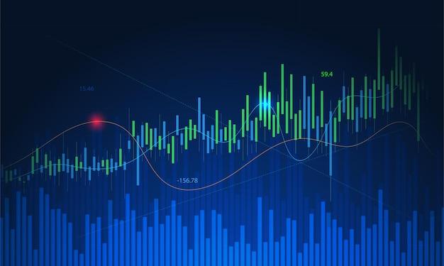 Fondo de diseño de acciones y gráficos. gráfico de negocio