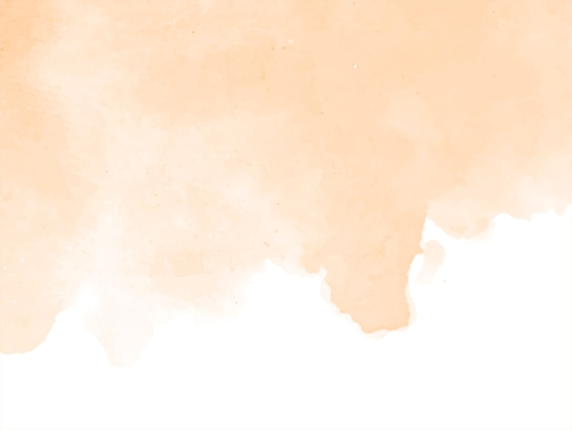 Fondo de diseño de acuarela de color marrón suave