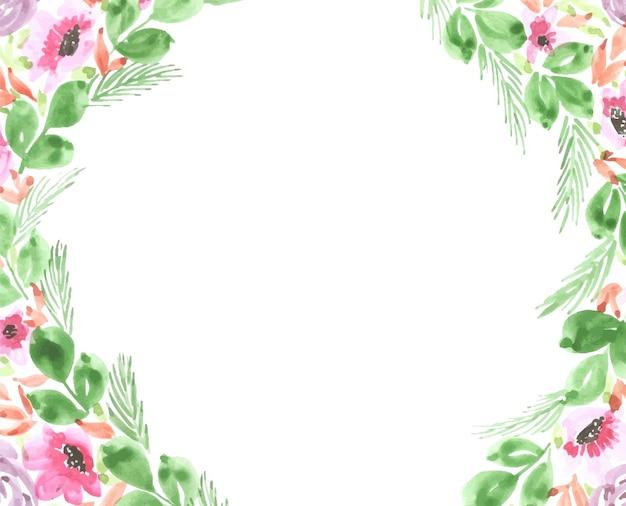 Fondo de diseño de arte floral acuarela hecha a mano