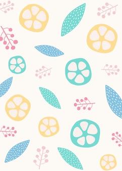 Fondo de diseño botánico de estilo