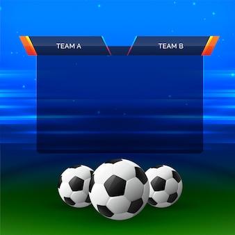 Fondo de diseño de carta de deportes de fútbol