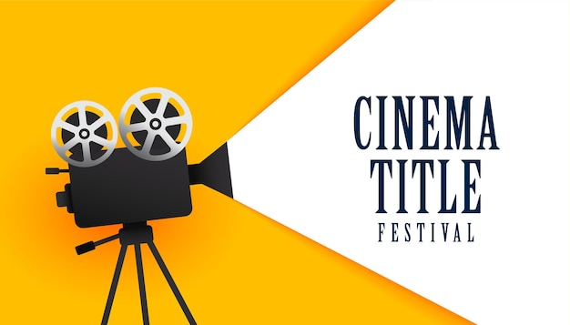 Fondo de diseño de cartel de festival de cine de película de cine