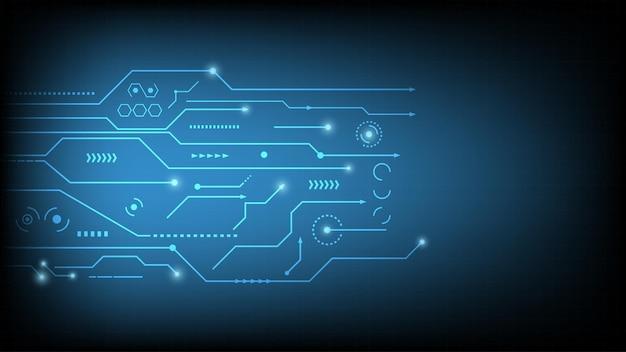 Fondo de diseño de circuitos de tecnología de alta tecnología. innovación de concepto. ilustración vectorial.