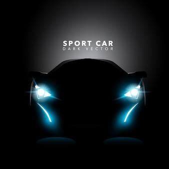 Fondo con diseño de coche deportivo