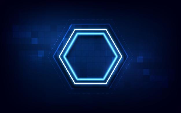 Fondo de diseño de concepto futurista de tecnología de hexágono de círculo abstracto