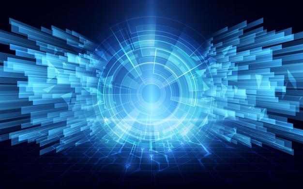 Fondo de diseño de concepto de red de conexión de túnel cibernético de velocidad