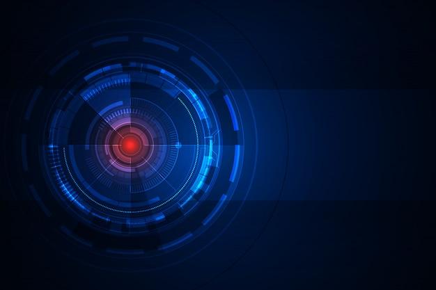 Fondo de diseño de concepto de tecnología futurista abstracto