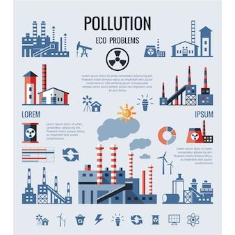 Fondo con diseño de contaminación
