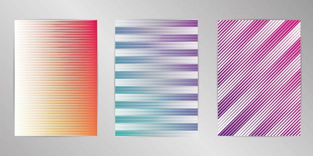 Fondo de diseño de cubierta mínima establecido en formato a4.