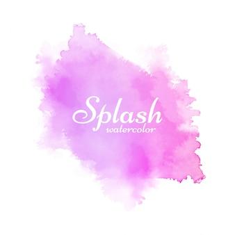 Fondo de diseño decorativo de acuarela rosa splash