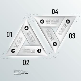 Fondo de diseño de diseño de infografía