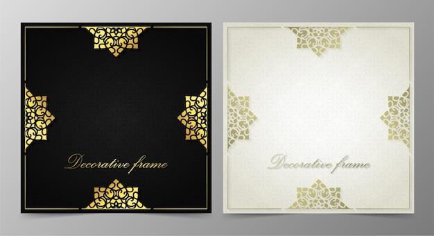 Fondo de diseño elegante marco decorativo