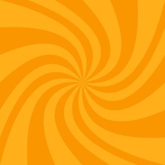 Fondo con diseño de espiral naranja