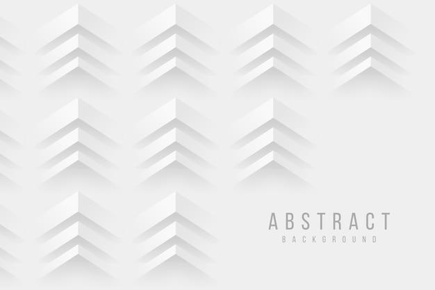 Fondo de diseño de estilo de papel 3d flechas