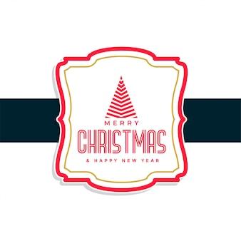 Fondo de diseño de etiqueta de feliz navidad