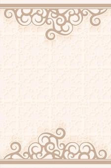 Fondo de diseño étnico de patrón de damasco