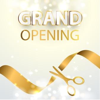 Fondo de diseño de evento de gran inauguración