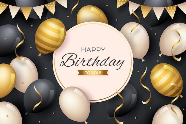 Fondo de diseño de feliz cumpleaños
