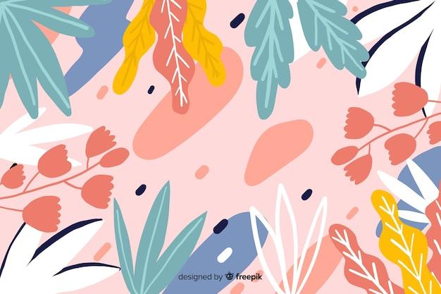 Fondo de diseño floral dibujado a mano
