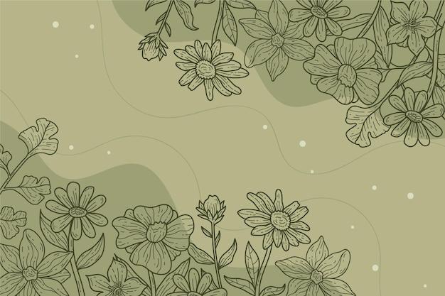 Fondo de diseño floral lineal