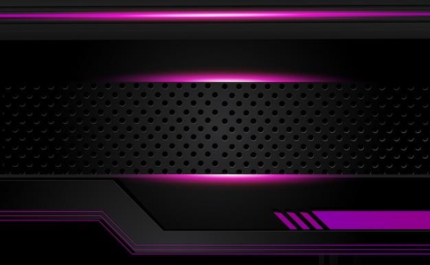 Fondo de diseño de folleto gráfico vectorial abstracto púrpura y negro. tendencias 2018