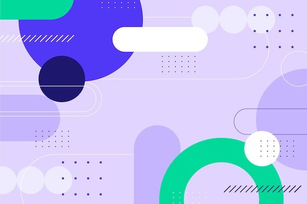 Fondo de diseño de formas abstractas coloridas