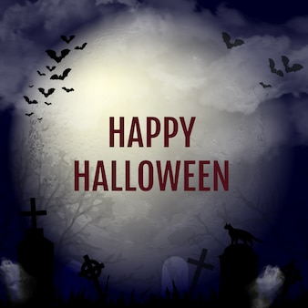 Fondo de diseño de halloween