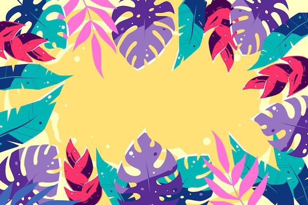 Fondo de diseño de hojas tropicales