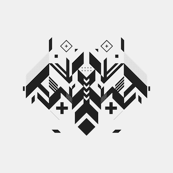 Fondo con diseño de insecto geométrico