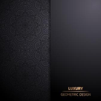 Fondo de diseño de mandala ornamental de lujo en color oro